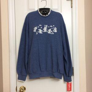 Vintage Bon Worth Blue Sweatshirt Size Large